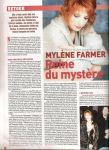 Mylène Farmer Ciné Télé Revue Belgique 21 août 2008