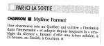 Mylène Farmer Presse La Montagne 05 mai 2009