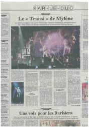 Mylène Farmer Presse L'Est Républicain 30 septembre 2009