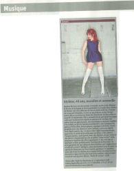 Mylène Farmer Presse La Libre Belgique 16 septembre 2009