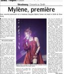 Mylène Farmer Presse Les DNA 07 juin 2009