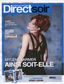 Mylène Farmer Presse Direct Soir 11 septembre 2009