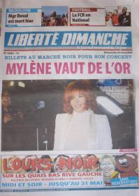 Mylène Farmer Presse Liberté Dimanche 24 mai 2009