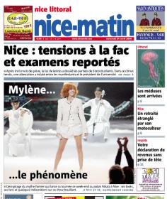 Mylène Farmer Presse Nice Matin 29 avril 2009