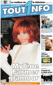 Mylène Farmer Presse Sortir Tout1nfo du 17 au 23 juin 2009