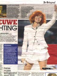 Mylène Farmer De Telegraaf 06 mars 2010