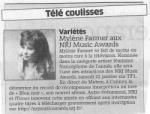 Mylène Farmer Presse L'Est Républicain 21 décembre 2010
