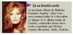 Mylène Farmer Presse La Voix du Nord 23 octobre 2010