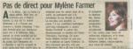 Mylène Farmer Le Parisien 24 avril 2010
