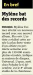 Mylène Farmer Presse Metro 15 décembre 2010