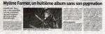 Mylène Farmer Presse Sud Ouest 06 décembre 2010