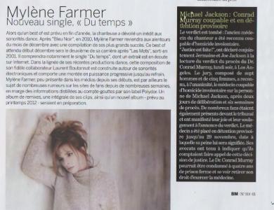 Mylène Farmer Presse Bledmag Décembre 2011