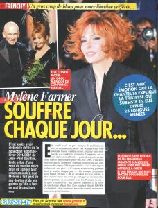 Mylène Farmer Presse Frenchy People Septembre 2011
