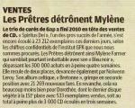 Mylène Farmer Presse Le Parisien 05 janvier 2011