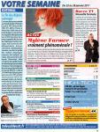 Mylène Farmer Presse Télé Câble Sat Hebdo 17 janvier 2011