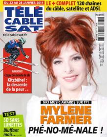 Mylène Farmer Presse Tele Cable Sat Hebdo du 22 au 28 janvier 2011