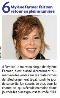 Mylène Farmer 20 Minutes 23 octobre 2012