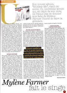 Mylène Farmer Presse Le Soir Magazine 08 décembre 2012