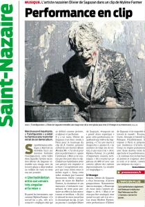 Olivier de Sagazan Presse Océan 16 décembre 2012
