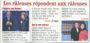 Mylène Farmer Presse Télé Poche 20 fevrier 2012