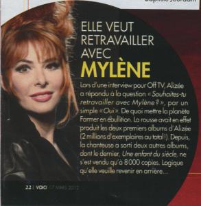 Mylène Farmer Presse Voici 17 mars 2012