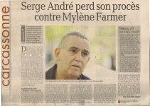 Mylène Farmer Presse La Dépêche Carcassonne