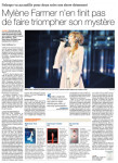 Mylène Farmer Presse Le Matin dimanche octobre 2013