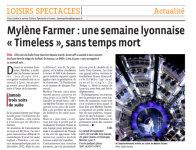 Mylène Farmer Presse Le Progrès 28 septembre 2013
