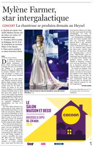 Mylène Farmer Presse Le Soir 12 novembre 2013