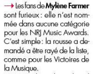 Mylène Farmer Presse Voici 25 octobre 2013