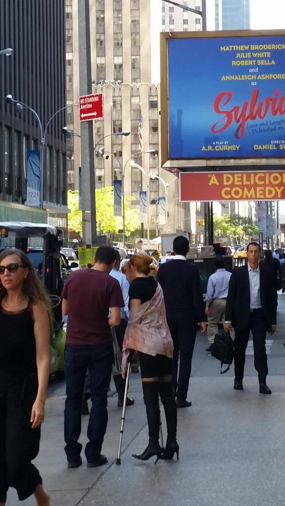 Mylène Farmer à New York le 17 septembre 2015