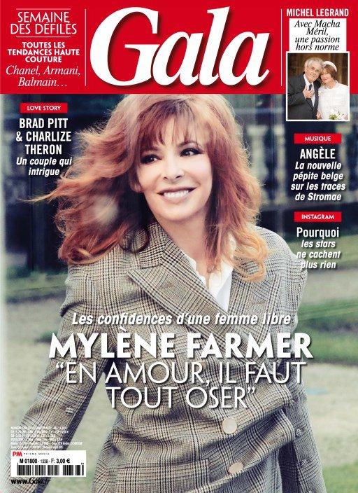 Mylène Farmer à la Une de Gala - 31 janvier 2019