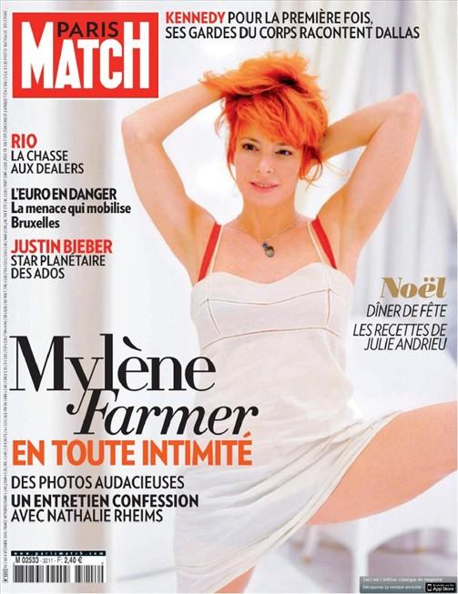Mylène Farmer Presse Paris Match 02 décembre 2010